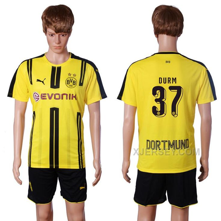 http://www.xjersey.com/201617-dortmund-37-durm-home-soccer-jersey.html 2016-17 DORTMUND 37 DURM HOME SOCCER JERSEY Only $35.00 , Free Shipping!