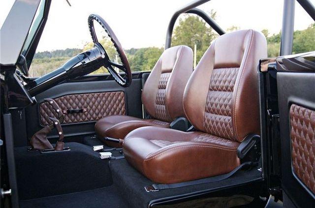 sick interior of custom '73 Bronco