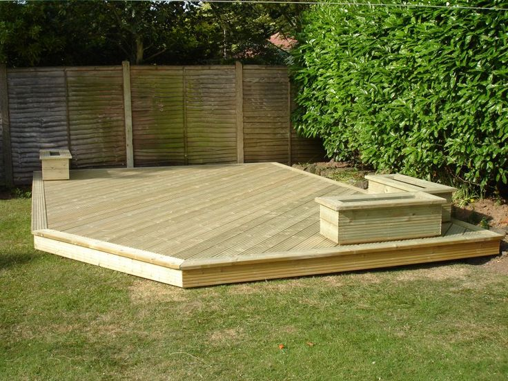 Best 25 low deck designs ideas on pinterest low deck for Simple platform deck plans