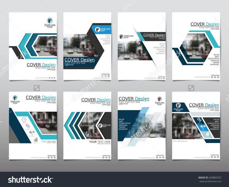 Blue Set Technology Annual Report Brochure Flyer Design Template Vector, Leaflet…
