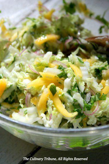 Southeast Asian Napa Cabbage and Mango Slaw