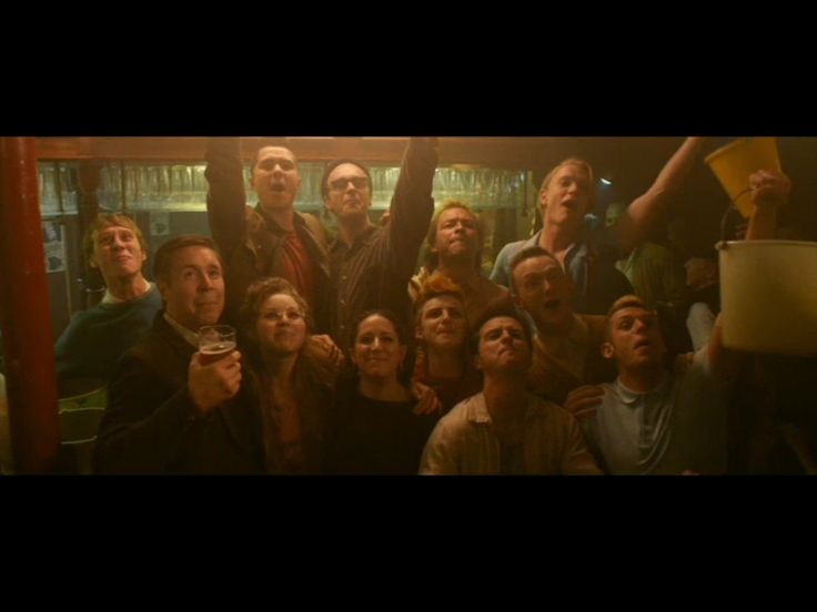 Victory to the miners! Pride Movie Screen Grab.