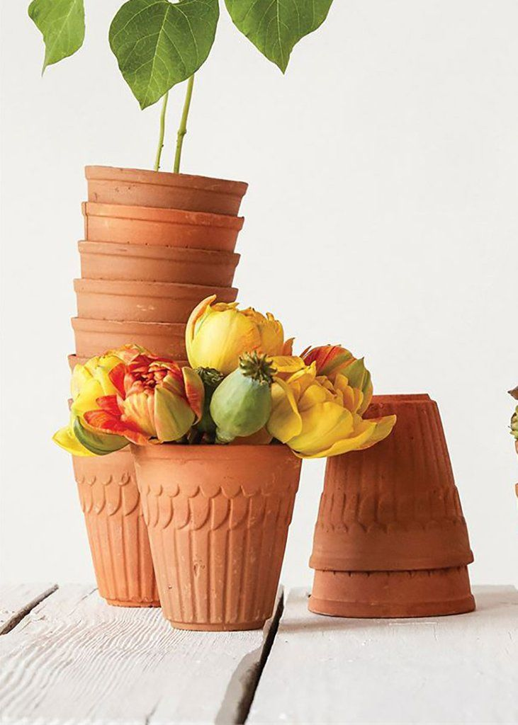 Outdoor Planters Small Terracotta Flower Pot 4 Terracotta Flower Pots Flower Pots