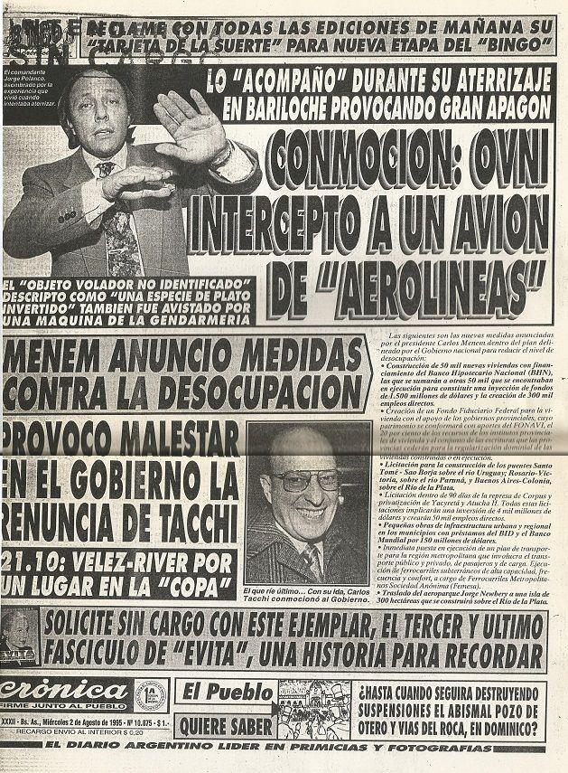 """Portada diario """"Cronica"""""""
