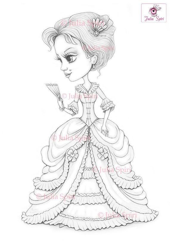 Victorian Coloring Page Digital Stamp Dig Vintage Girl Old Etsy In 2021 Digital Stamps Coloring Pages Love Coloring Pages
