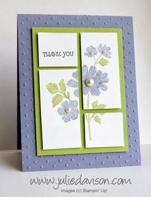 Julie's Stamping Spot -- Stampin' Up! Project Ideas by Julie Davison: Gifts of Kindness: Cut Up Card