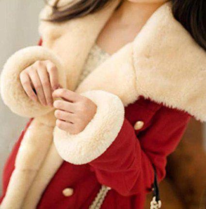 Rosennie Damen Warm Zweireiher Wolle Mantel (S, Blau): Amazon.de: Bekleidung