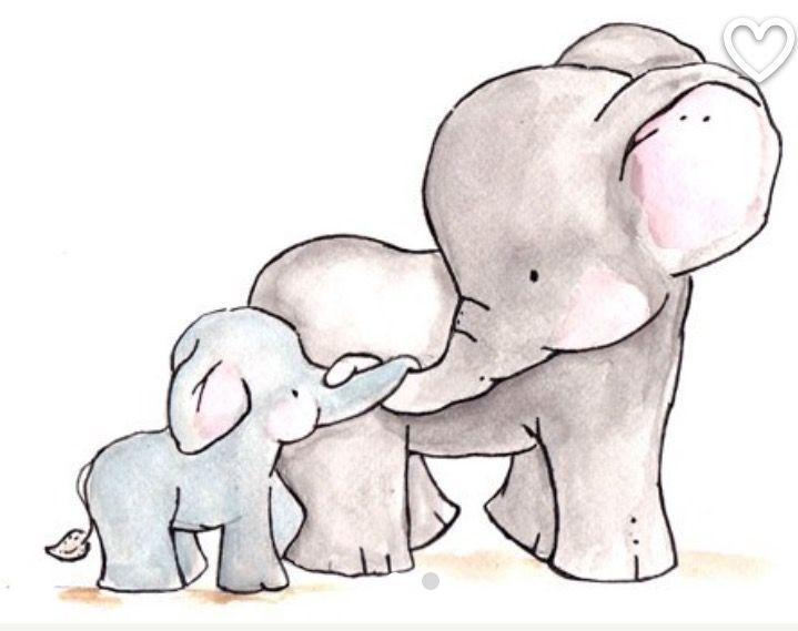 Resultado de imagen para baby elephant illustration