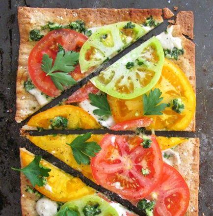 Summer Tomato Flatbread Pizza... Happy Hour Appetizers 41   Hampton Roads Happy Hour - 6.5