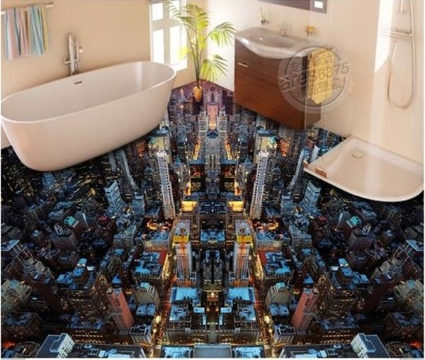 40 Amazing 3d Floor Designs Which Are Not Less Than Artworks 3d Floor Painting Bedroom Wallpaper City Painting Wallpaper