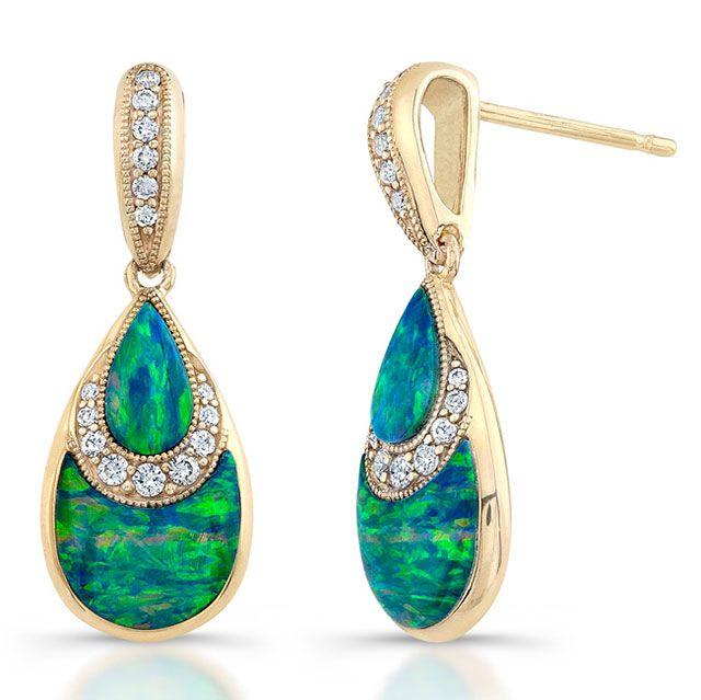 Kabana #opal #earrings #jewelry