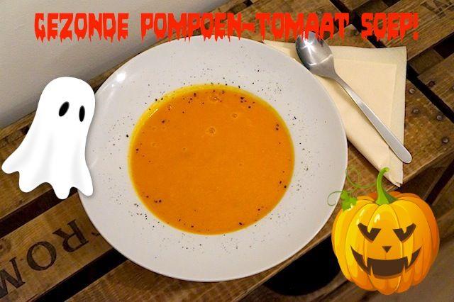 gezonde soep pompoen tomaat recept