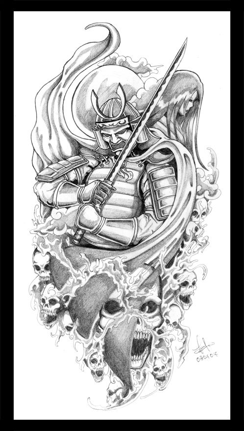 Samurai and his geisha by terryrism.deviantart.com on @deviantART