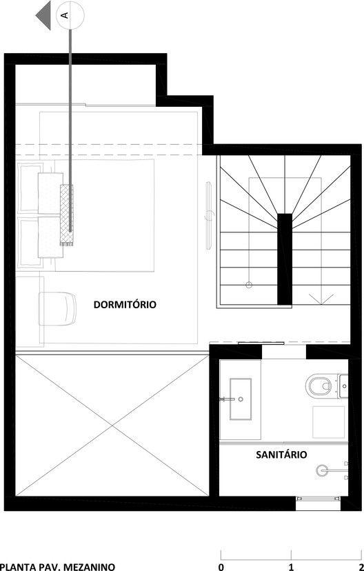 Loft,Planta Baixa - Mezanino