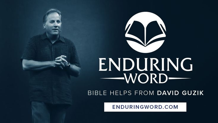 Enduring Word presents free Bible resources from David Guzik, including his written commentary on the Bible.