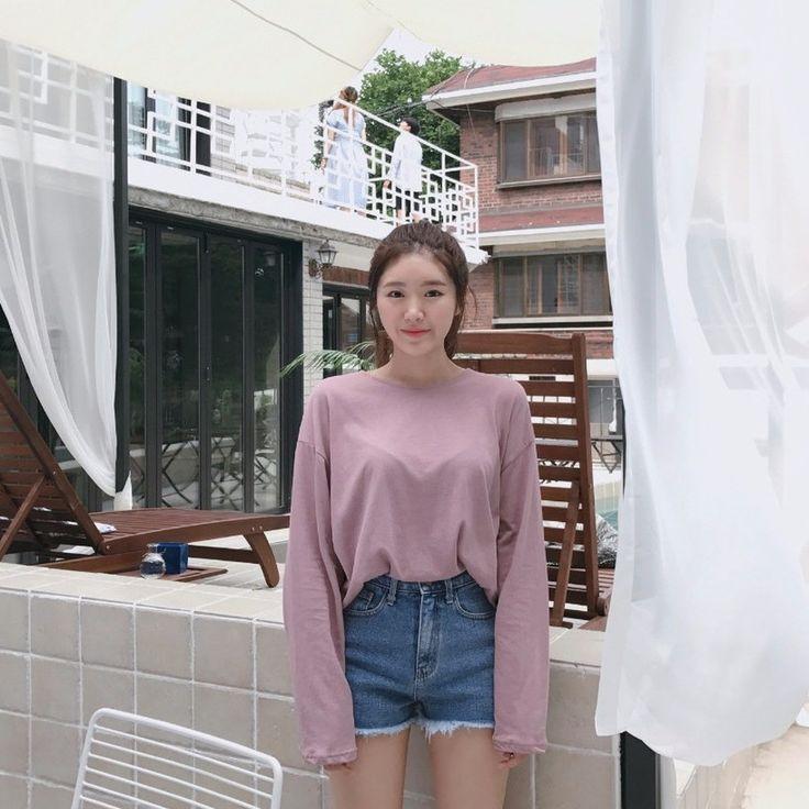 ♡ラウンドネックドロップショルダー長袖Tシャツ♡ #レディースファッション #ファッション通販 #ファッショントレンド #新作 #最新 #モテ服 #韓国ファッション #韓国レディース通販 #ootd #wiw  #fashionaddict #womensfashion #fashion  https://goo.gl/bJ2zRK