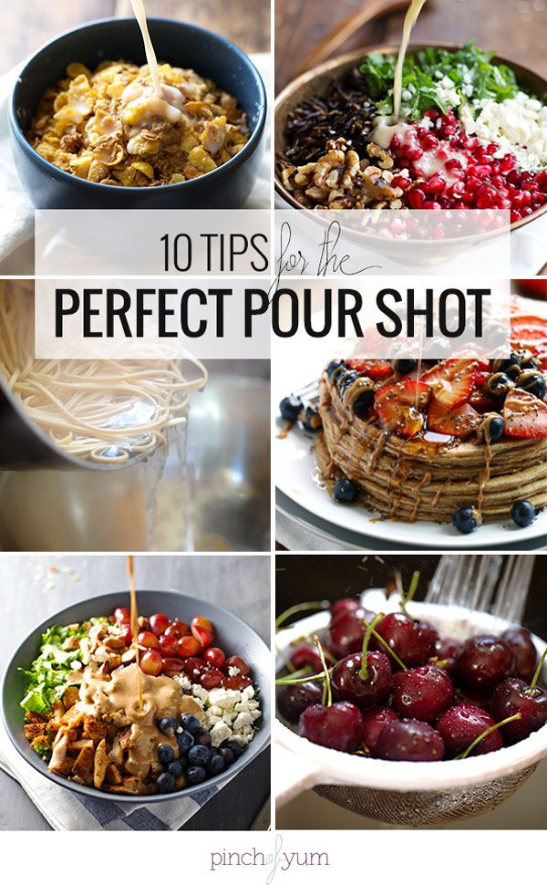10 Tips for Food Photography Pour Shots