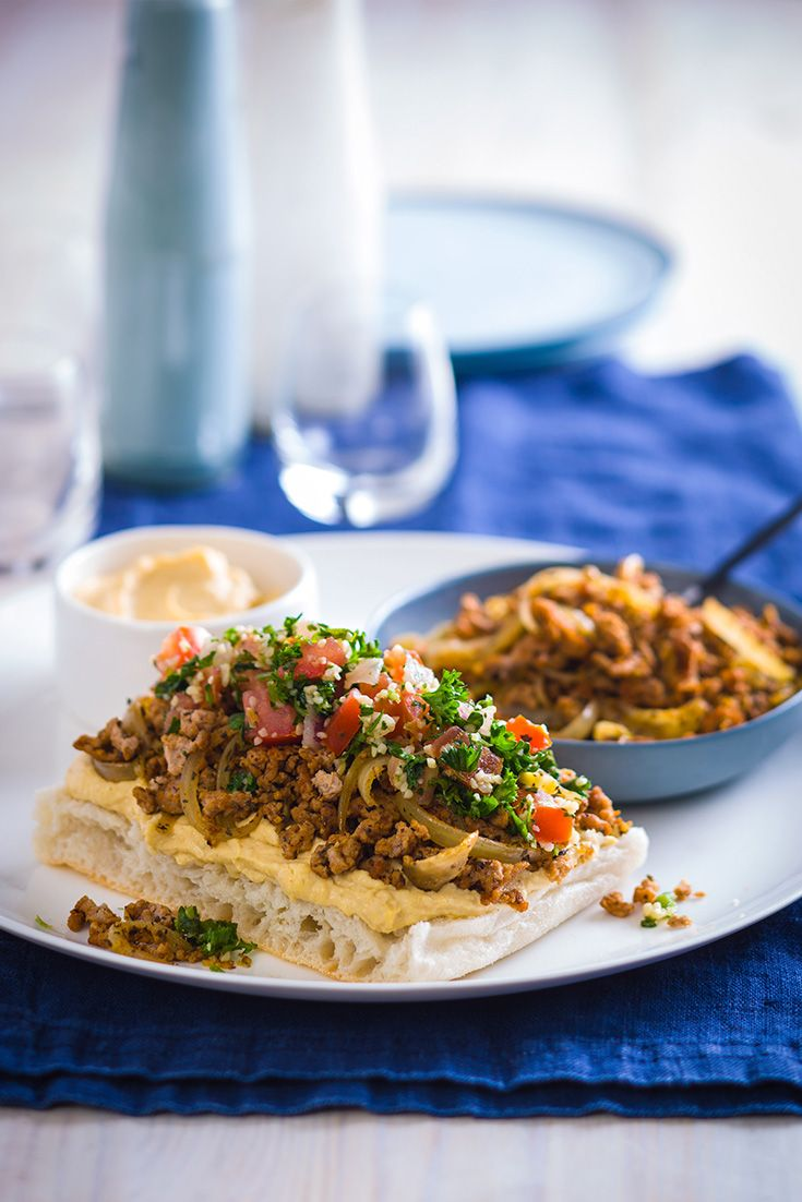 Try this turkey mince open pide recipe as a high-protein ...