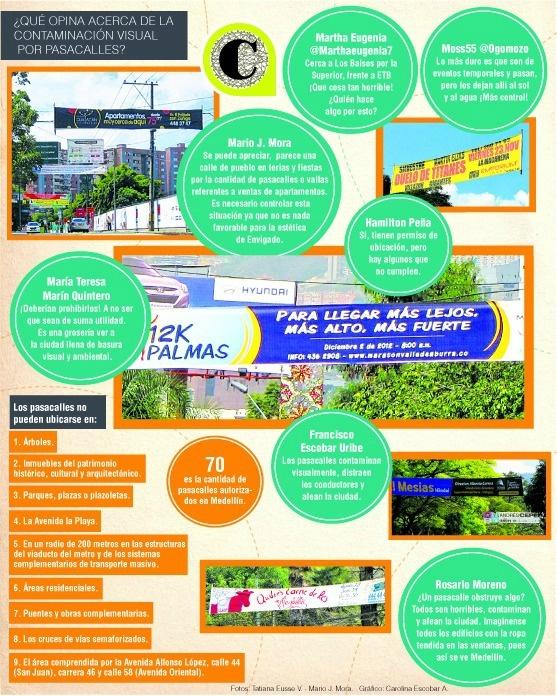 Exceso de pasacalles contamina la ciudad. Publicado: diciembre 6 de 2012.