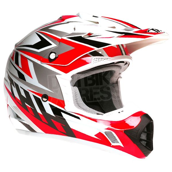 2015 THH TX-12 Helmet - Strike White Red