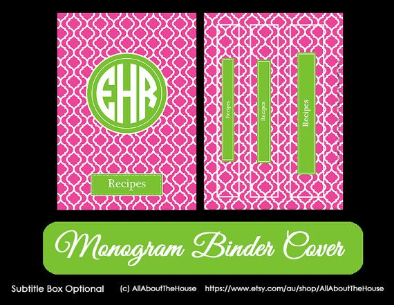 best 10  monogram binder ideas on pinterest