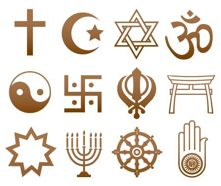 Religious Symbols meaning An easy guide to the most common religious symbols and their meaning. Click on the symbols below or on the links to the left. Welcome to Religious Symbols, a site for you who are interested in and want to know more about religious symbols. Study their design, learn about their background and meaning etc.