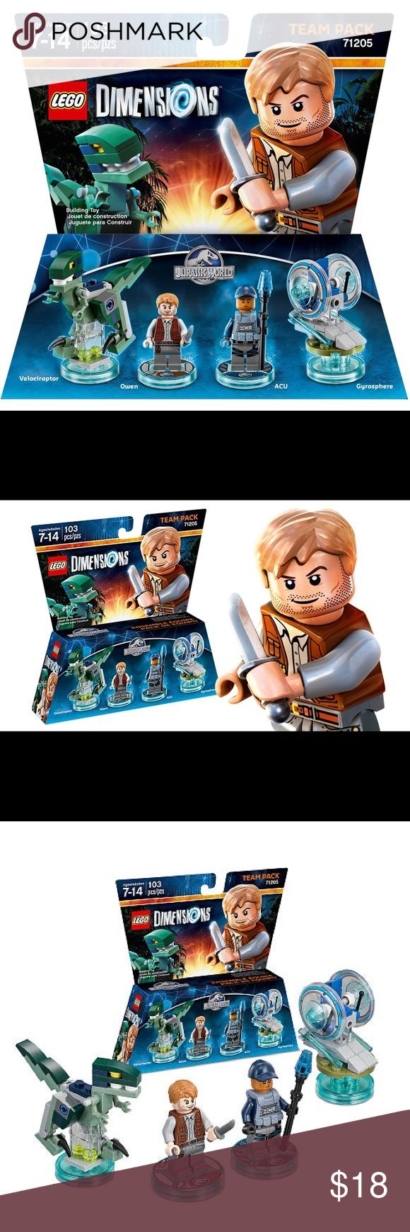 Lego dimensions Jurassic World team pack NIP Thank you for viewing my listing, for sale is a Lego dimensions, team pack.  Jurassic World 71205 103pc set  brand-new in the package. If you have any questions or would like additional photos please feel free to ask. Lego Accessories