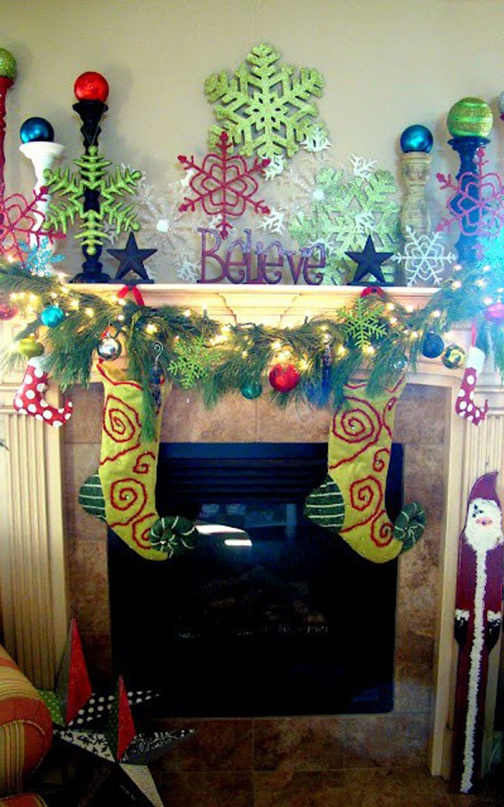 Indoor Christmas Decorating Ideas 2013 Cute Christmas Mantel Decorating Ide