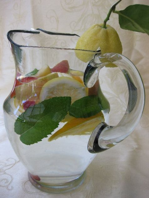 This party drink isn't your average glass of water. It's water wearing a prom dr…