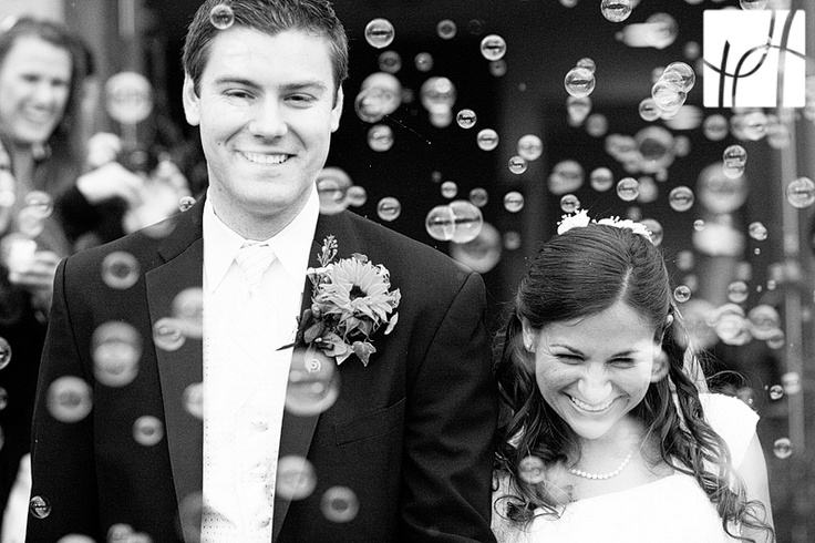 No confetti in the hair or expensive rose petals... I want bubbles!