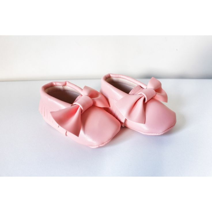 Pink Bow Moccasins baby infant shoes💛 $19.99