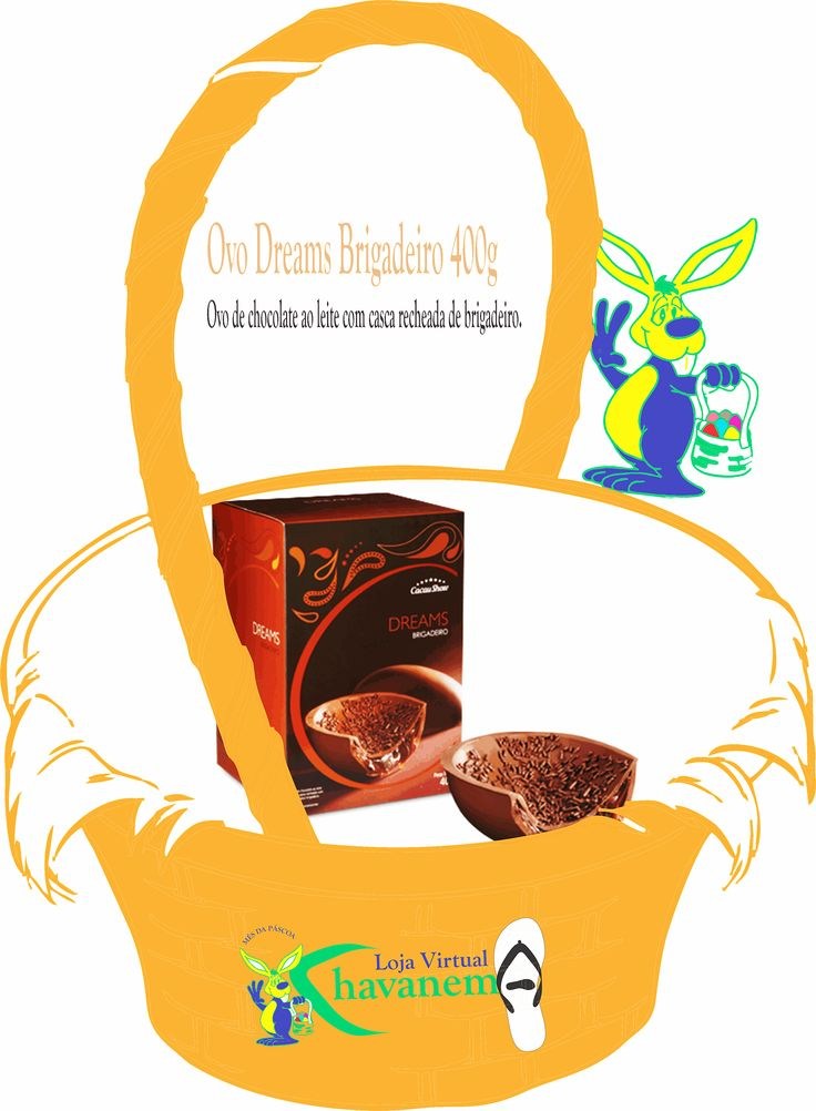 Chinelos Chavanema - O coelhinho Chavanema, vai sortear : 1 Ovo Dreams Brigadeiro 400g (Cacau Show) - Ovo de chocolate ao leite com casca recheada de brigadeiro.  Participe, comprando produtos Chavanema em nossa loja virtual : https://www.facebook.com/chavanema/app_379938028687793