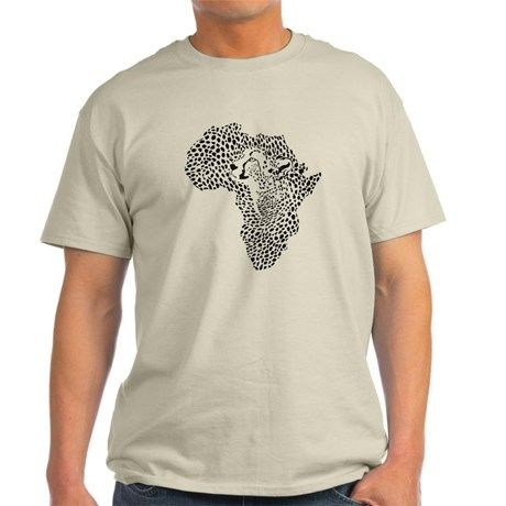 Africa in a cheetah camouflage T-Shirt on CafePress.com