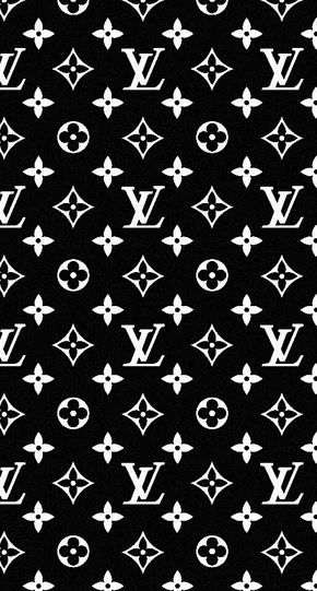 iPhone wallpaper Louis Vuitton black 壁紙, イラスト, ヴィトン