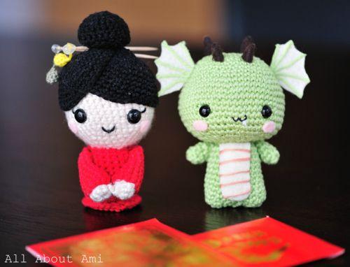 Cute crochet dragon