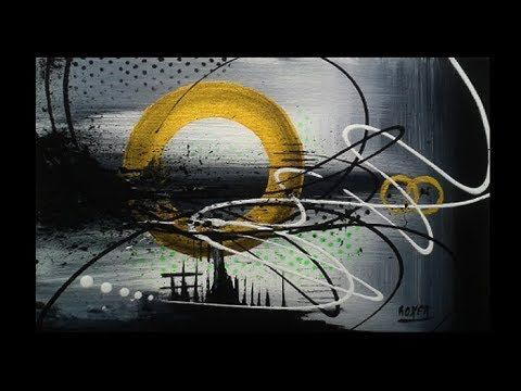 Abstract acrylic painting demonstration – otherwise from Roxer Vidal – YouTube