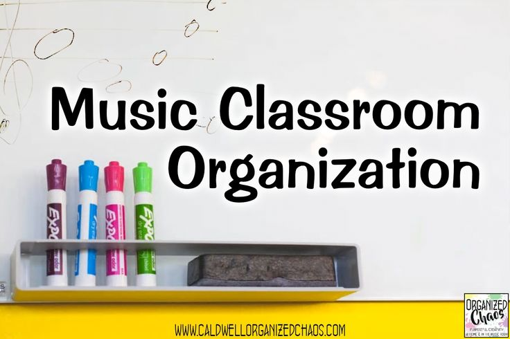 Music Classroom Organization. Organized Chaos. SO many organization ideas for music teachers it's crazy! Tips for instrument storage, sheet music, seating charts, behavior management, lesson planning, and so much more.