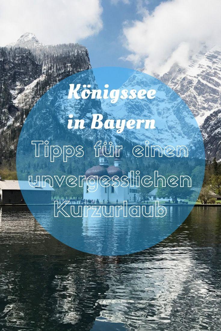 Bootfahren und Wandern am Königssee und Obersee in Bayern mit Kind. Kurzurlaub in Bayern