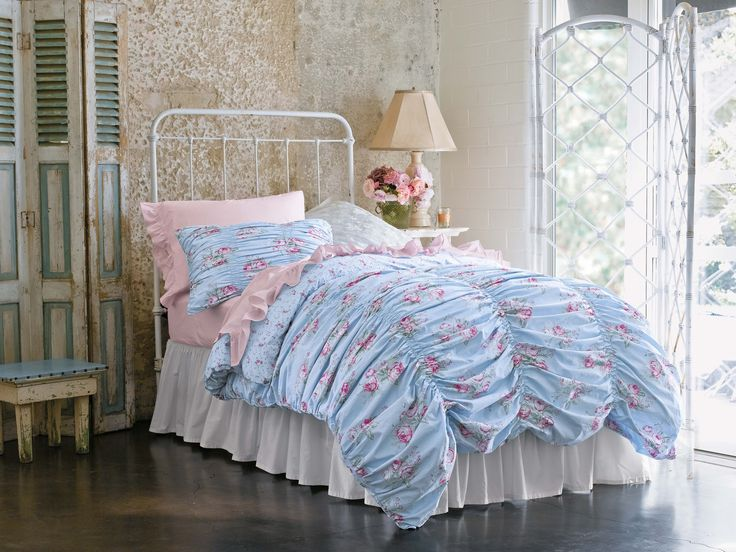 Simply Shabby Chic 174 Cabbage Rose Rouged Duvet Set 79 99
