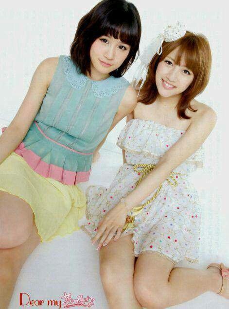 "What a pair! Atsuko Maeda ""Acchan"" (AKB48 grad) and Minami Takahashi ""Takamina"" (AKB48)"