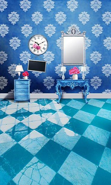 300 СМ * 200 СМ (около футов * 6.5ft) т фон Синие стулья зеркало фотография backdropsvinyl фотографии фон 3487 ЛК