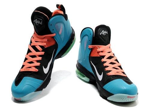 Nike LeBron 9 PS Elite South Beach Glacier Blue Black Orange Style code: 516958-