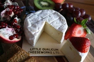 Island Brie Cheese from Little Qualicum Cheeseworks Ltd. on Vancouver Island. This is our favourite cheese, and tastes great with the fig preserve from Vista d'Oro as an appetizer. Everyone likes this one so much that we stopped serving other cheeses alongside- this is the winner. #saveur #dinnerparty