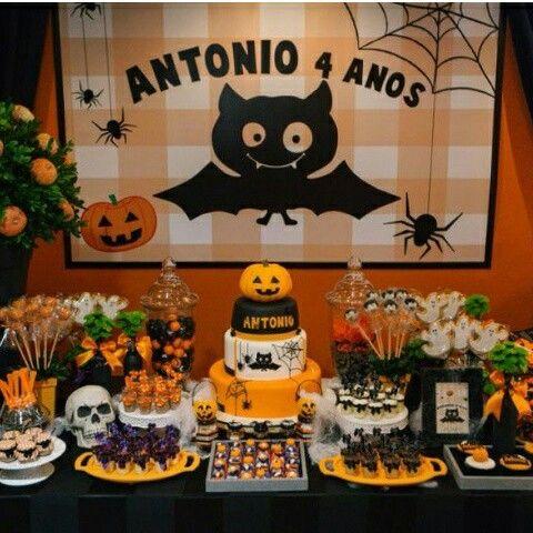 52 best Festa Infantil Halloween images on Pinterest Autumn, Bag - halloween party ideas decorations