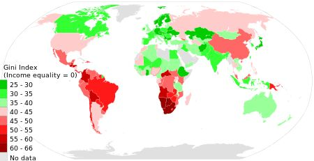 List of countries by income equality - Wikipedia, the free encyclopedia