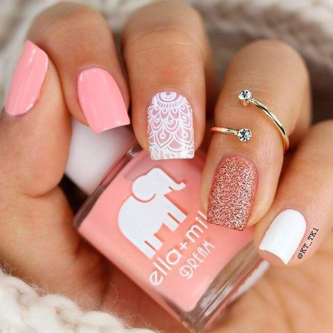 Pin By Larissa Van Niekerk On Nails 3 Square Nail Designs Pink