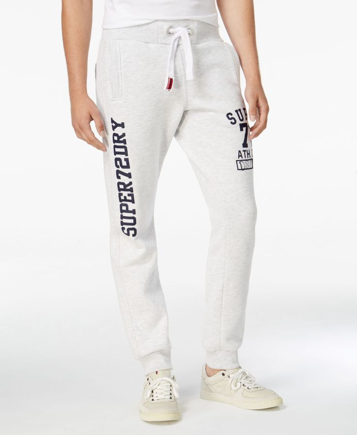 Superdry Men's Trackster Graphic-Print Joggers