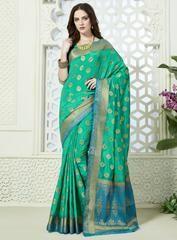 Green Color Art Silk Designer Party Wear Sarees : Tiksha Collection YF-64380