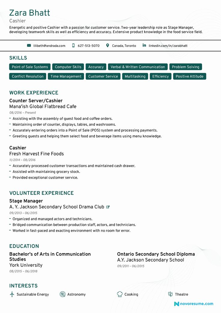Entry Level Customer Service Resume Awesome Cashier Resume