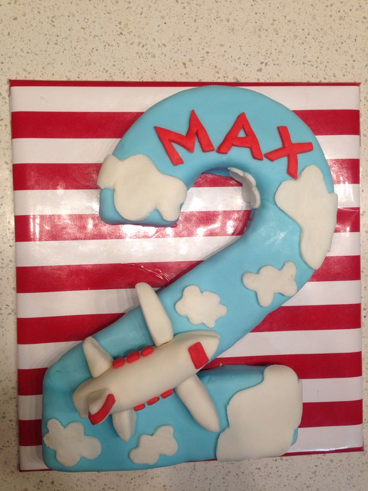 Plane cake for Max's second birthday.